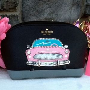 Rare Kate Spade Checking In Pink Car Small Abalene